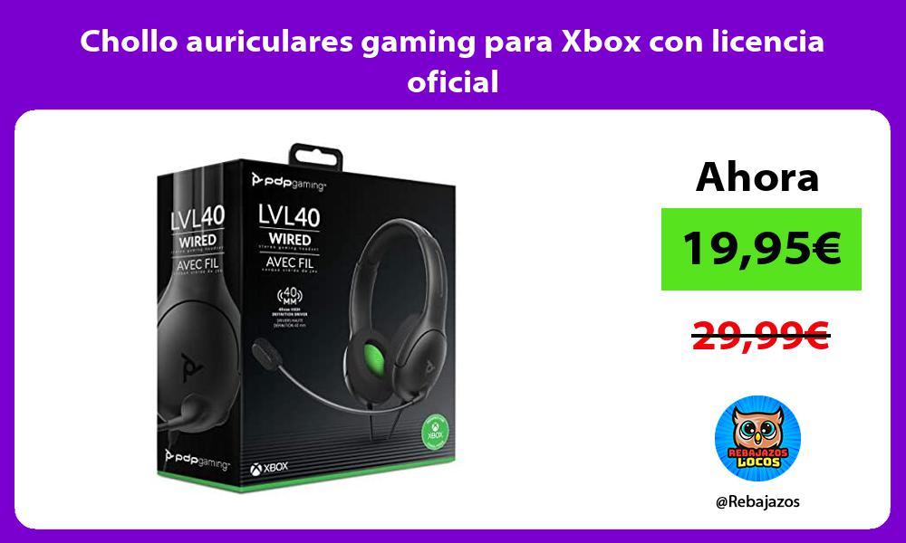 Chollo auriculares gaming para Xbox con licencia oficial