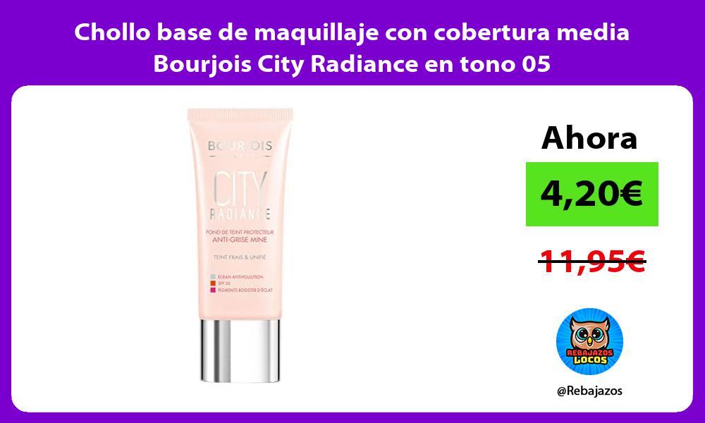 Chollo base de maquillaje con cobertura media Bourjois City Radiance en tono 05