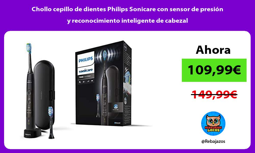 Chollo cepillo de dientes Philips Sonicare con sensor de presion y reconocimiento inteligente de cabezal