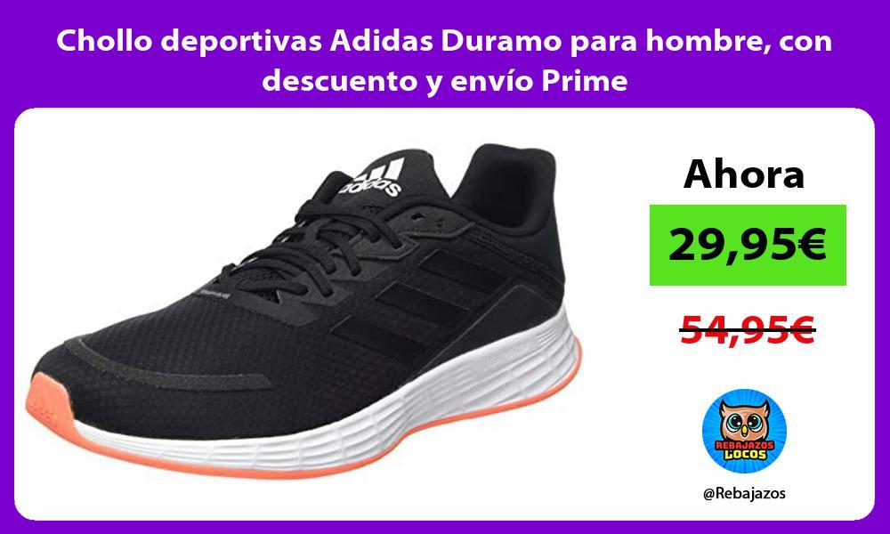 Chollo deportivas Adidas Duramo para hombre con descuento y envio Prime