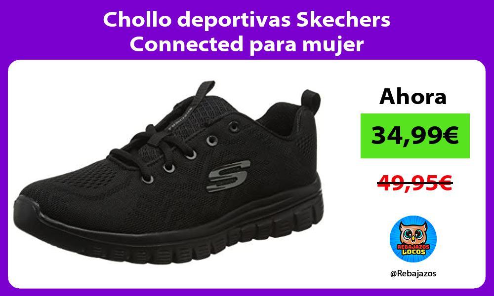 Chollo deportivas Skechers Connected para mujer