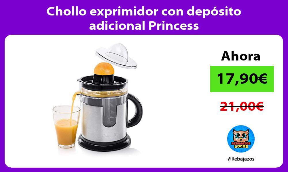 Chollo exprimidor con deposito adicional Princess