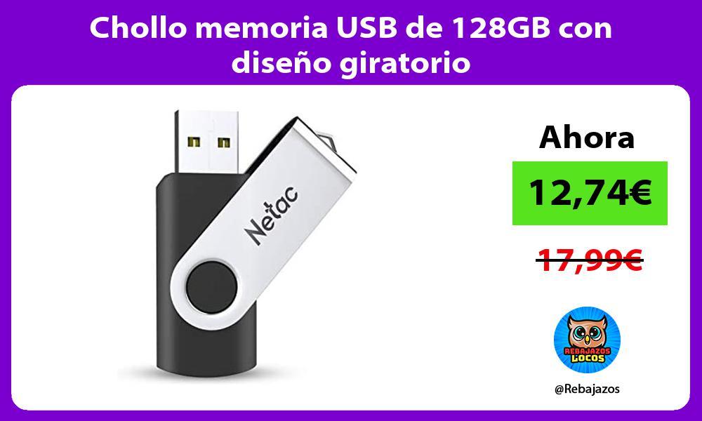 Chollo memoria USB de 128GB con diseno giratorio