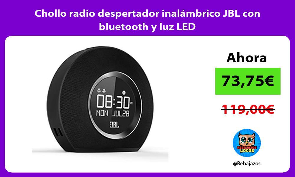 Chollo radio despertador inalambrico JBL con bluetooth y luz LED