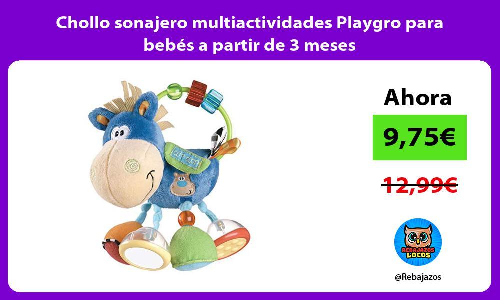 Chollo sonajero multiactividades Playgro para bebes a partir de 3 meses