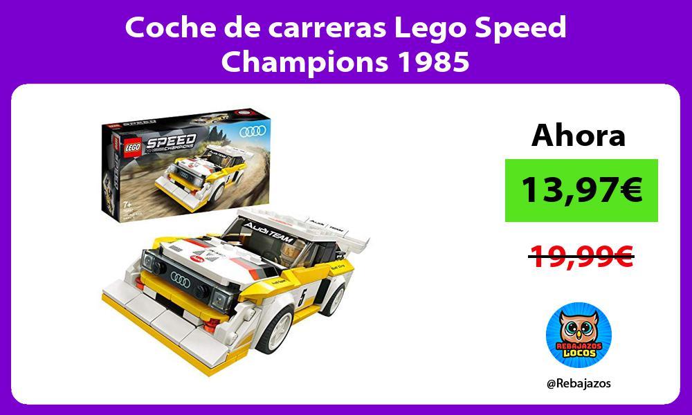 Coche de carreras Lego Speed Champions 1985