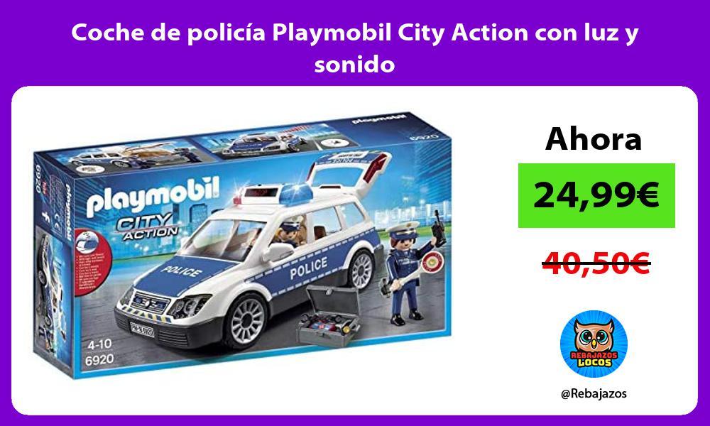 Coche de policia Playmobil City Action con luz y sonido