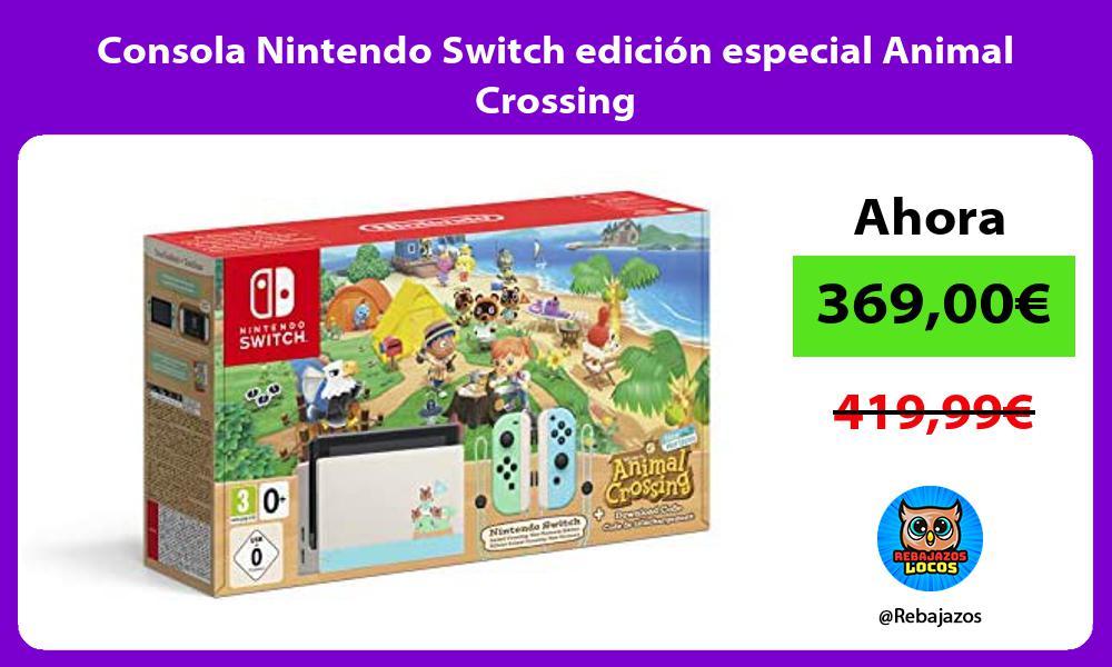 Consola Nintendo Switch edicion especial Animal Crossing