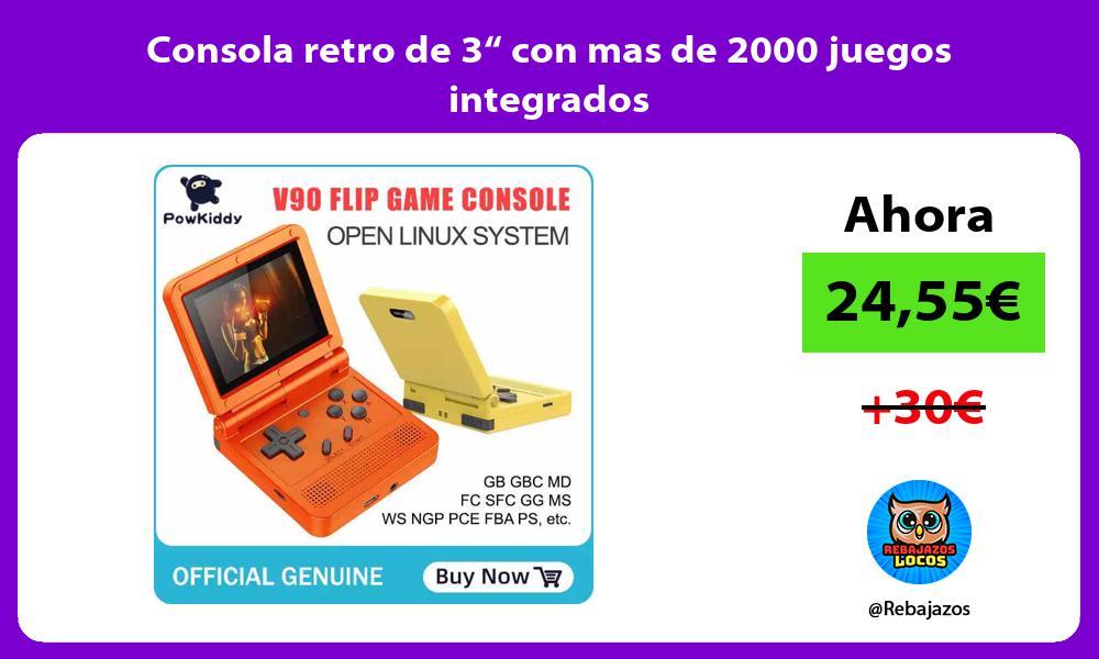 Consola retro de 3 con mas de 2000 juegos integrados