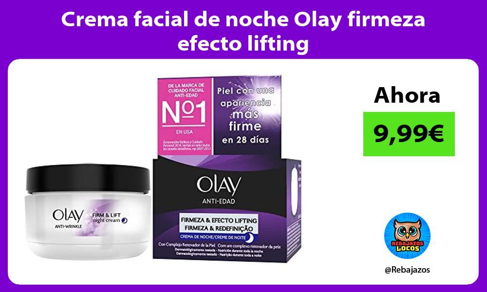 Crema facial de noche Olay firmeza efecto lifting