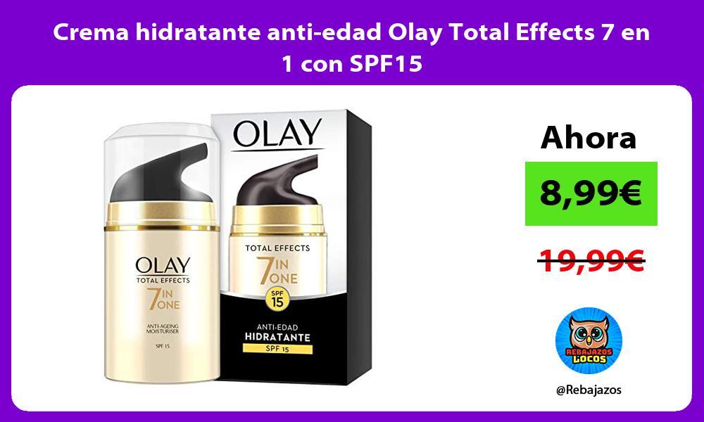 Crema hidratante anti edad Olay Total Effects 7 en 1 con SPF15