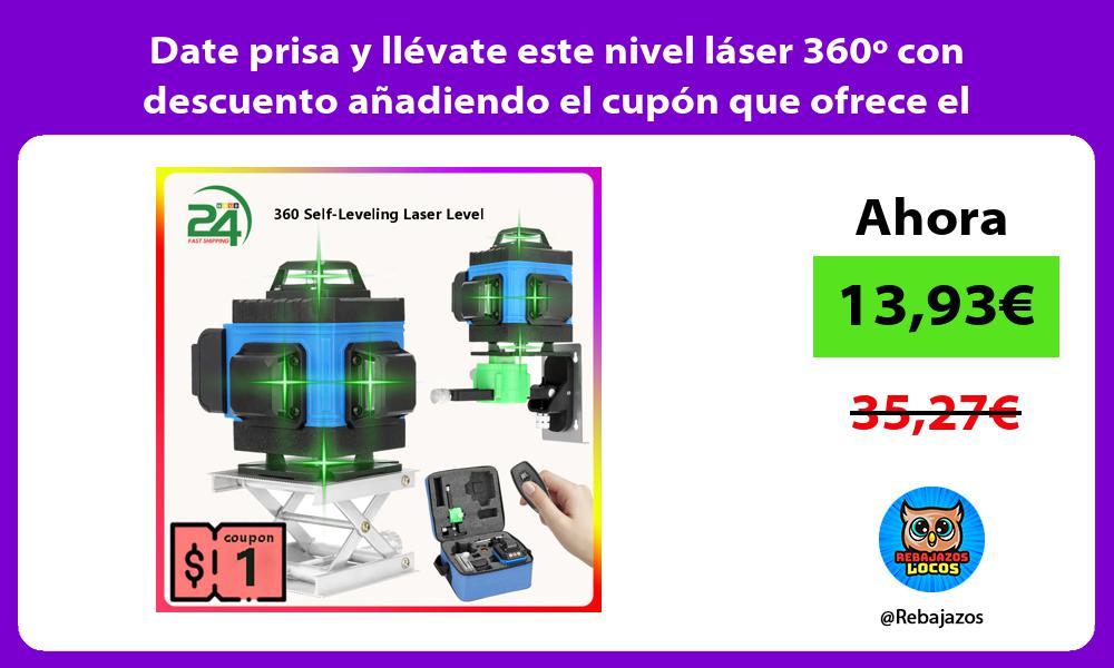 Date prisa y llevate este nivel laser 360o con descuento anadiendo el cupon que ofrece el vendedor
