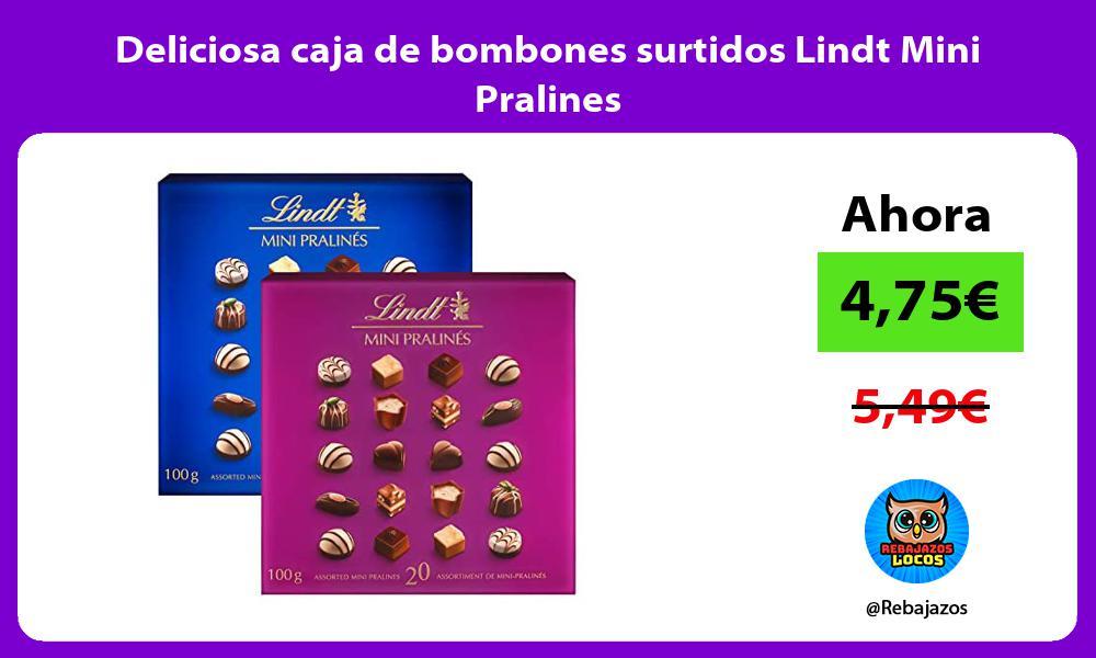 Deliciosa caja de bombones surtidos Lindt Mini Pralines