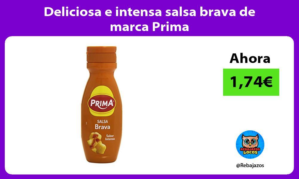 Deliciosa e intensa salsa brava de marca Prima