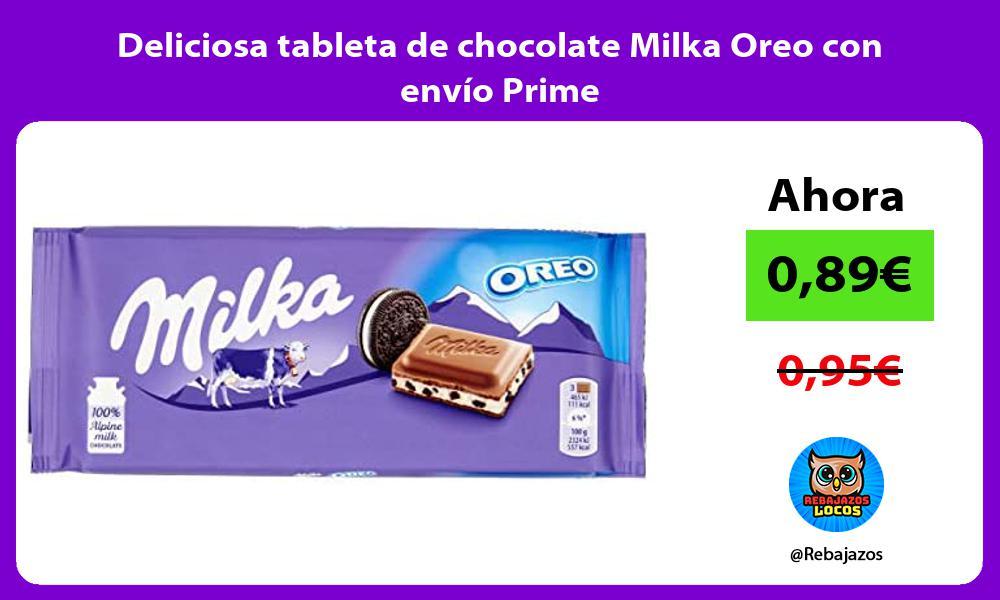 Deliciosa tableta de chocolate Milka Oreo con envio Prime