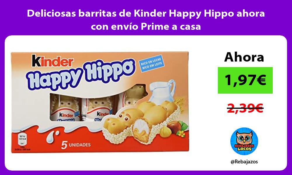 Deliciosas barritas de Kinder Happy Hippo ahora con envio Prime a casa