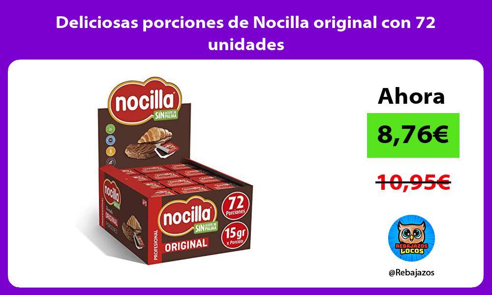 Deliciosas porciones de Nocilla original con 72 unidades