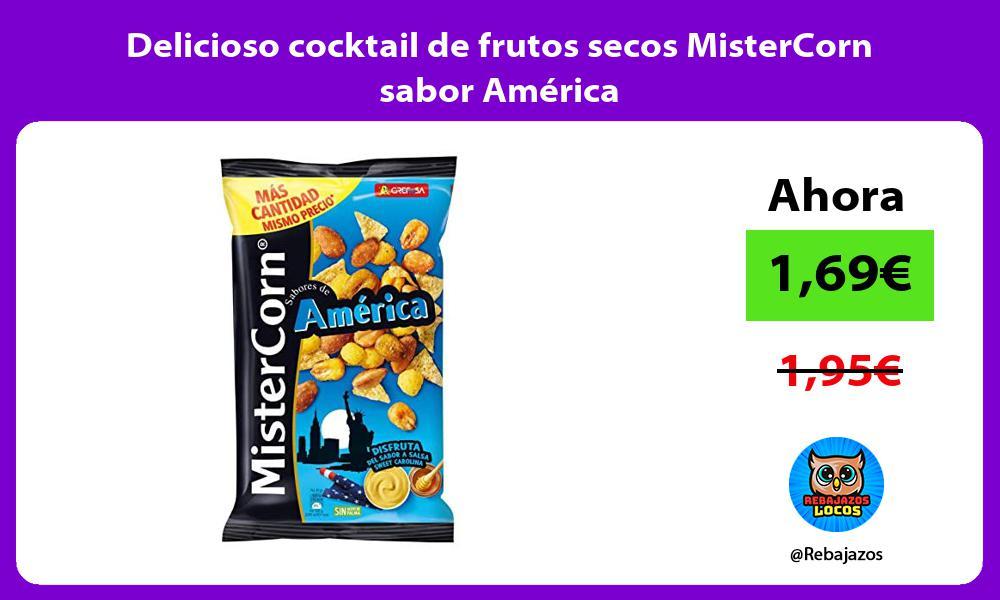 Delicioso cocktail de frutos secos MisterCorn sabor America