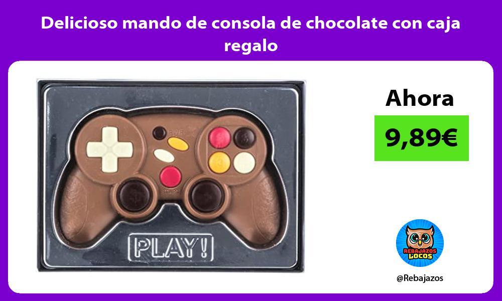 Delicioso mando de consola de chocolate con caja regalo