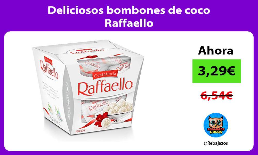 Deliciosos bombones de coco Raffaello