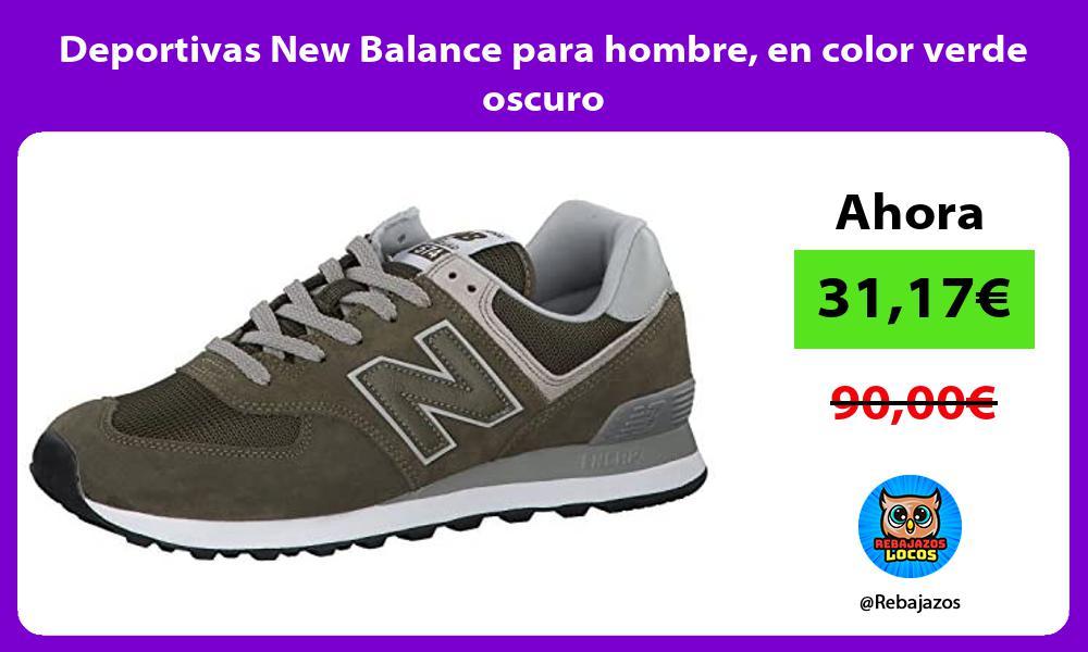 Deportivas New Balance para hombre en color verde oscuro