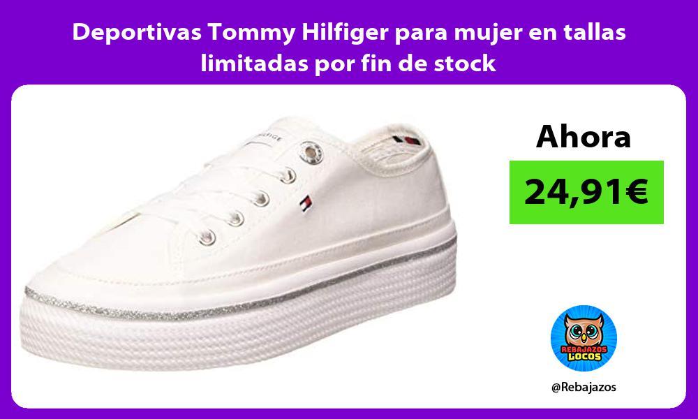 Deportivas Tommy Hilfiger para mujer en tallas limitadas por fin de stock
