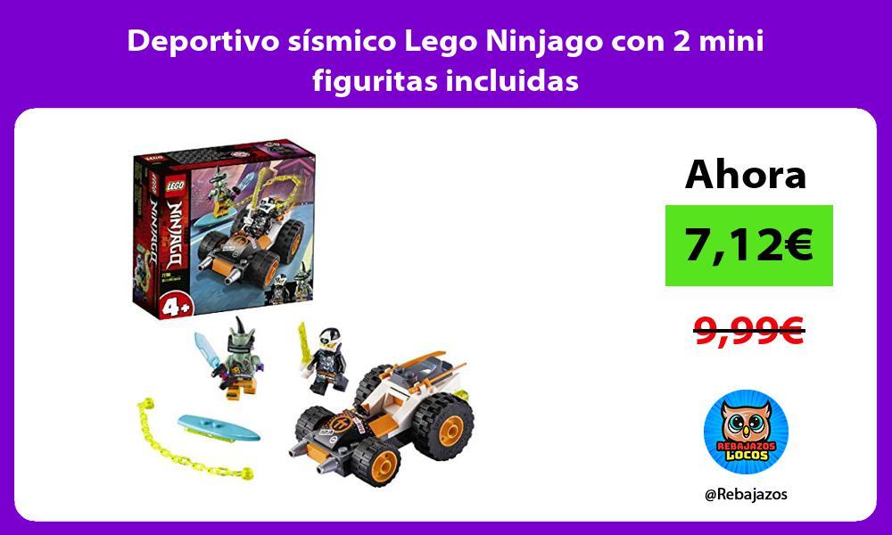 Deportivo sismico Lego Ninjago con 2 mini figuritas incluidas