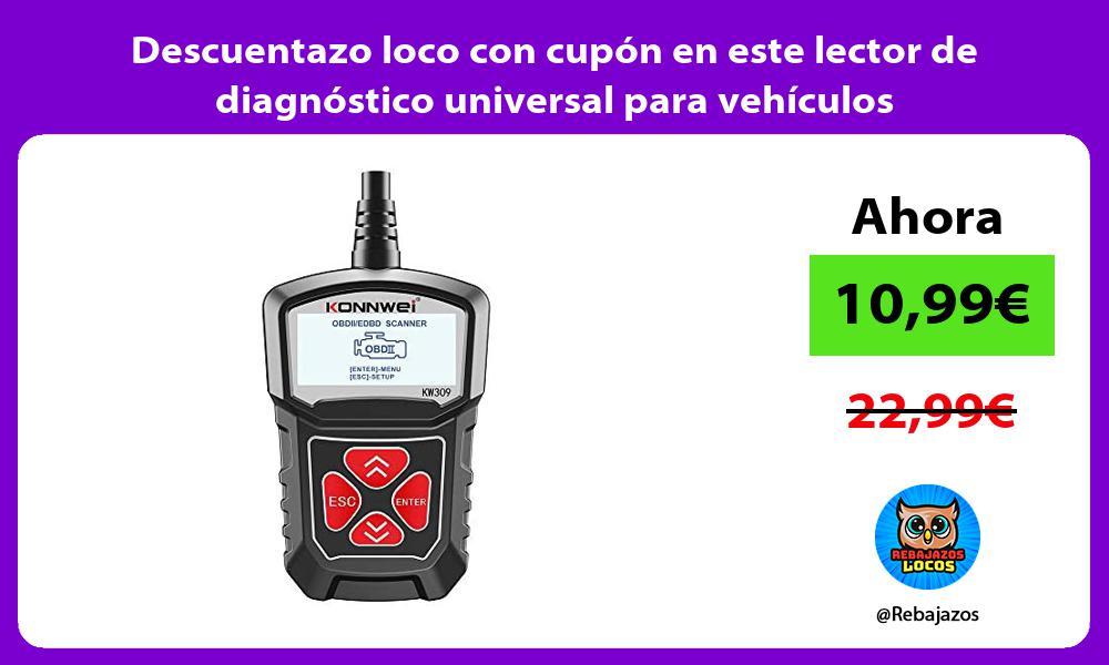 Descuentazo loco con cupon en este lector de diagnostico universal para vehiculos