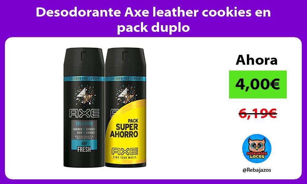 Desodorante Axe leather cookies en pack duplo