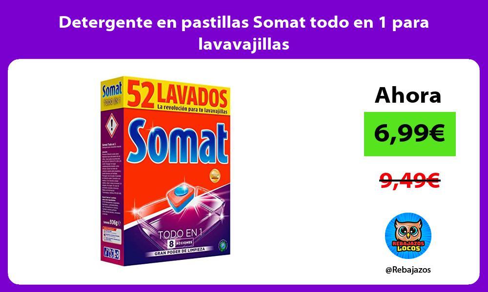 Detergente en pastillas Somat todo en 1 para lavavajillas
