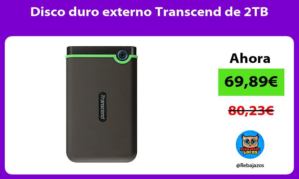 Disco duro externo Transcend de 2TB