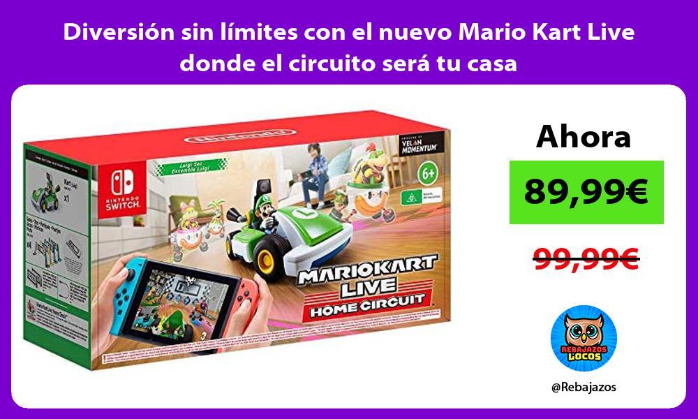 Diversion sin limites con el nuevo Mario Kart Live donde el circuito sera tu casa