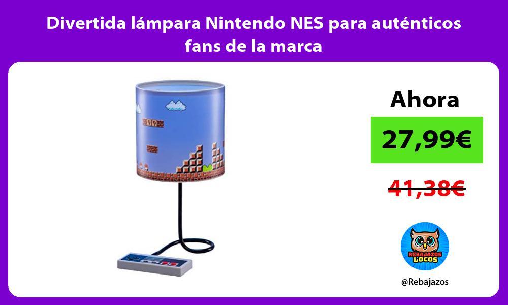 Divertida lampara Nintendo NES para autenticos fans de la marca