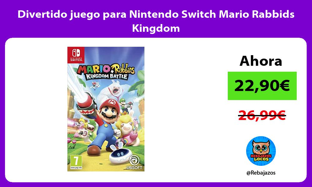Divertido juego para Nintendo Switch Mario Rabbids Kingdom