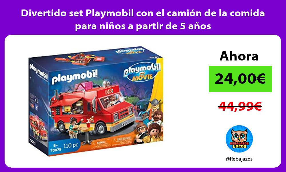 Divertido set Playmobil con el camion de la comida para ninos a partir de 5 anos