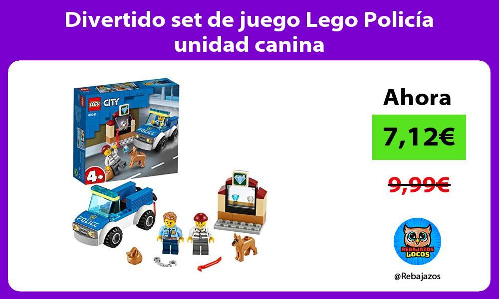 Divertido set de juego Lego Policia unidad canina