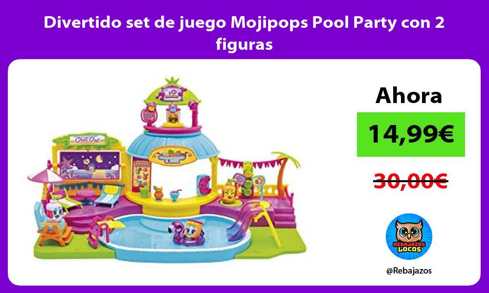 Divertido set de juego Mojipops Pool Party con 2 figuras