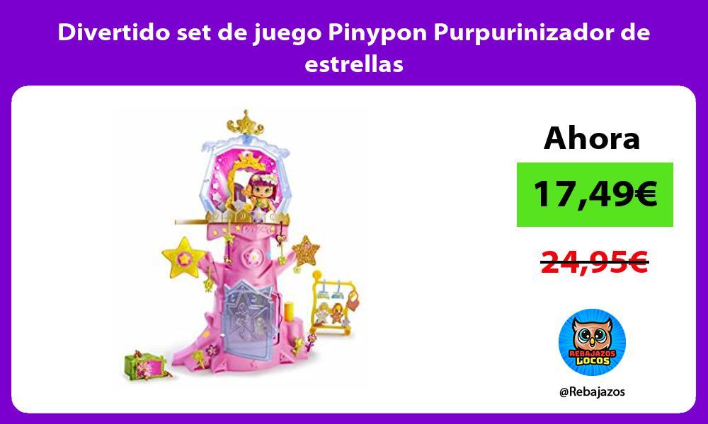 Divertido set de juego Pinypon Purpurinizador de estrellas