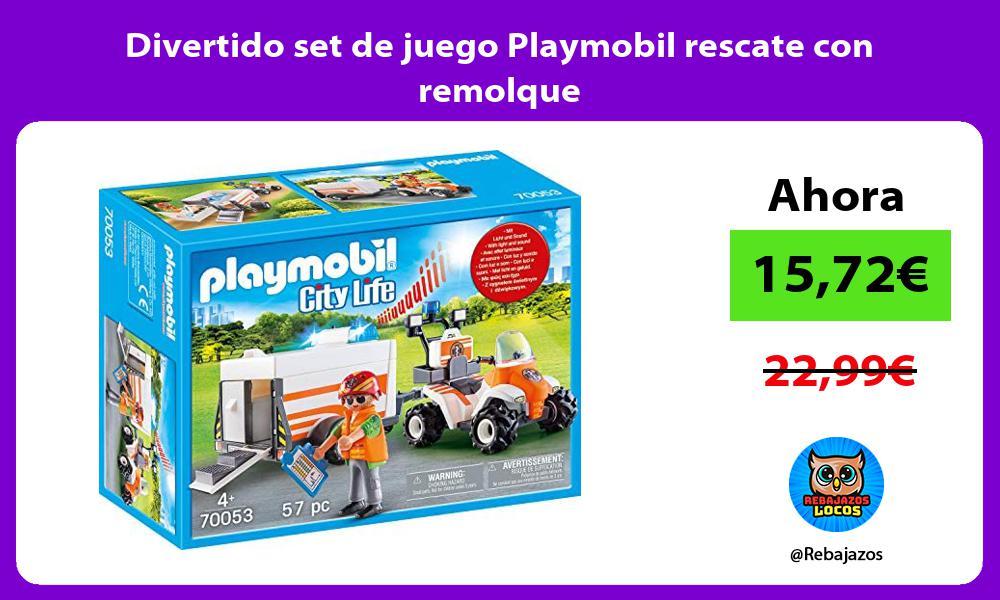 Divertido set de juego Playmobil rescate con remolque