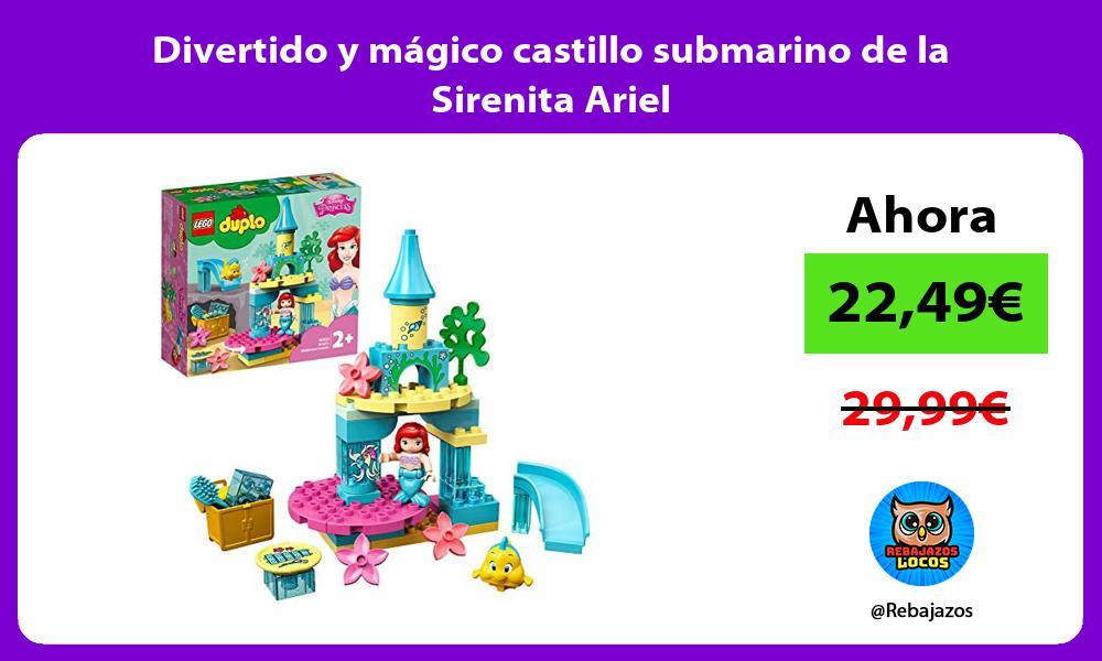 Divertido y magico castillo submarino de la Sirenita Ariel