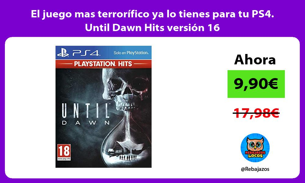 El juego mas terrorifico ya lo tienes para tu PS4 Until Dawn Hits version 16