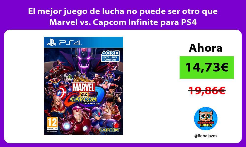 El mejor juego de lucha no puede ser otro que Marvel vs Capcom Infinite para PS4