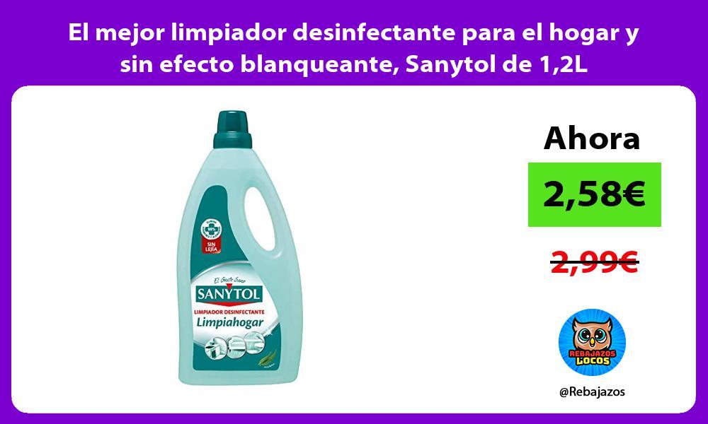 El mejor limpiador desinfectante para el hogar y sin efecto blanqueante Sanytol de 12L