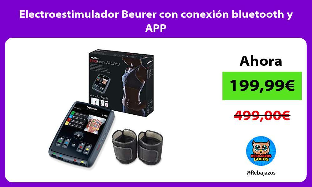 Electroestimulador Beurer con conexion bluetooth y APP