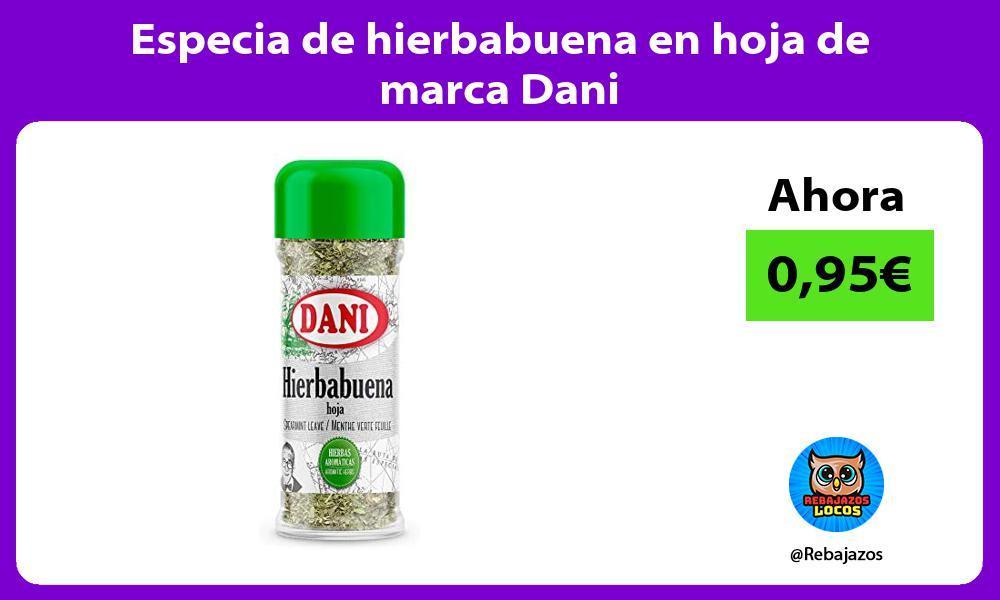 Especia de hierbabuena en hoja de marca Dani