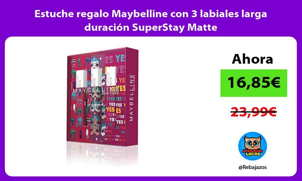 Estuche regalo Maybelline con 3 labiales larga duracion SuperStay Matte