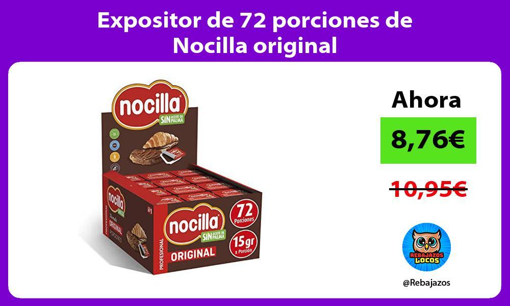 Expositor de 72 porciones de Nocilla original