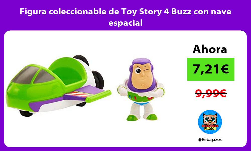 Figura coleccionable de Toy Story 4 Buzz con nave espacial