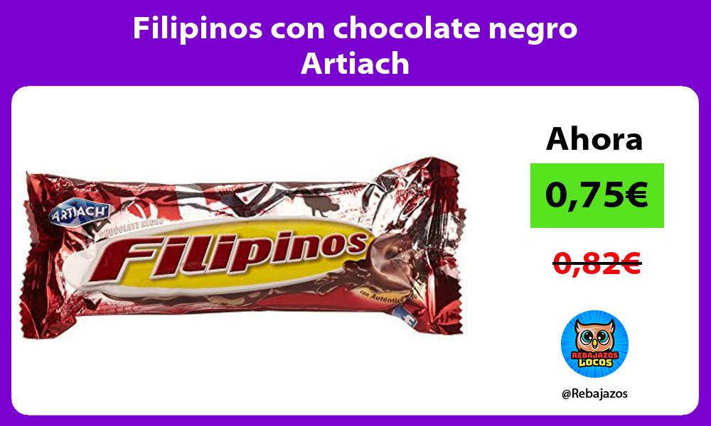 Filipinos con chocolate negro Artiach
