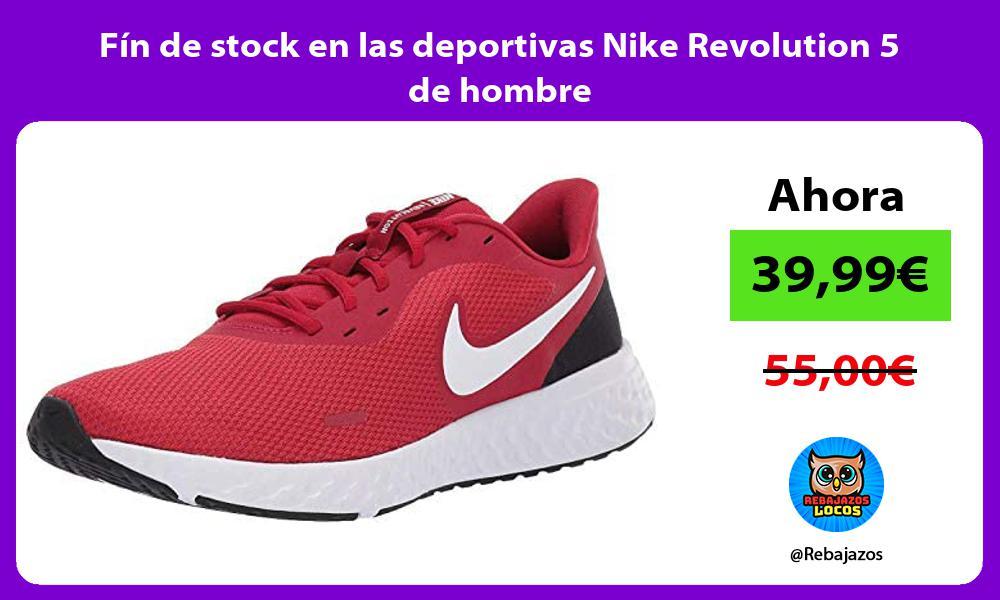 Fin de stock en las deportivas Nike Revolution 5 de hombre